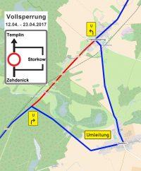 Vollsperrung der Ortsdurchfahrt Hammelspring