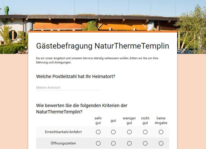 Gästebefragung NaturThermeTemplin