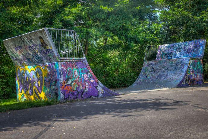 Halfpipe für Skateboard- und BMX-begeisterte