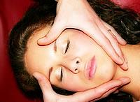 Kopf-Gesicht Massage