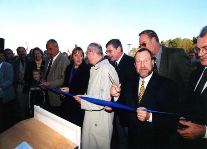 Eröffnung der NaturThermeTemplin im Jahr 2000 mit Dr. Angela Merkel