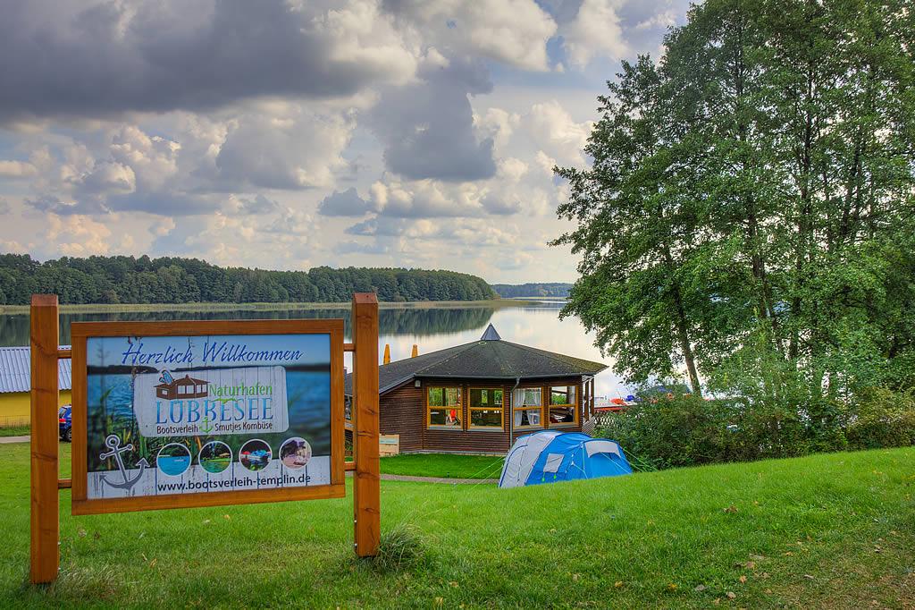Naturhafen Lübbesee Eingang (Foto: templiner.de)