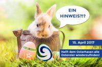 Der Osterhase kommt vorbei am 15. April