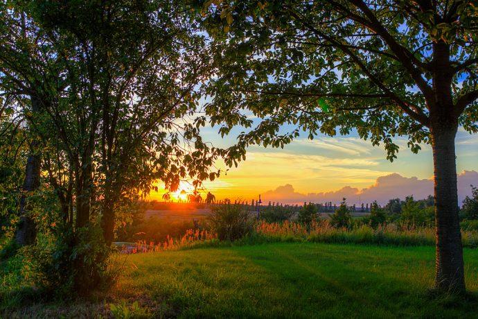 Sonnenuntergang an der Kurmeile (Foto: templiner.de)