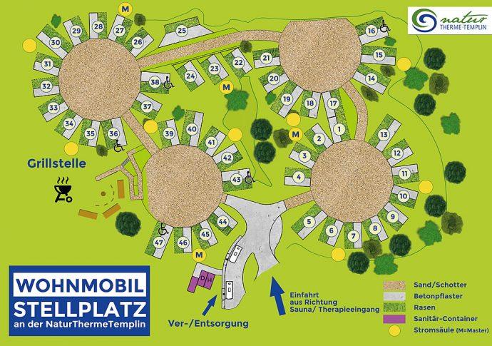 Lageplan Wohnmobilstellplatz