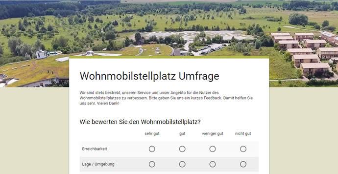 Umfrage zum Wohnmobilstellplatz (Vorschau)